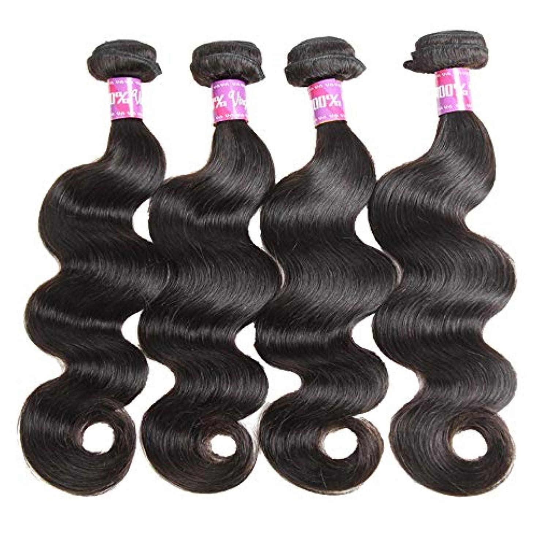 SRY-Wigファッション ヨーロッパとアメリカ黒人女性のための人間の髪の毛のかつら自然色 (Color : ブラック, Size : 24inch)