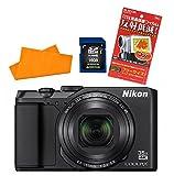 ニコン 【デジカメ】 COOLPIX A900 ブラック [シリコンクロス/ニコンオリジナルカメラバッグ/SDカード 16GB/液晶保護フィルム セット]