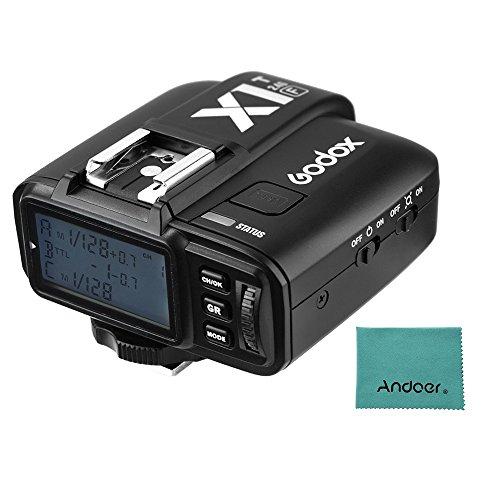 Godox X1T-F フラッシュトリガー 2.4G ワイヤレス TTL 1 / 8000s HSS 32チャンネル トランスミッター LCD Andoerクリニングクロス付き Fuji X-Pro2 X-T20 X-T2 X-T1 X-Pro1 X-T1