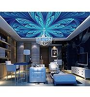 Mrlwy カスタム壁画壁紙ヨーロッパスタイルの花天井壁紙立体壁装飾-280X200CM