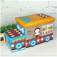 AVGe おもちゃ箱 収納ボックス 耐荷重60kg 座れる 防水 (イエロー)
