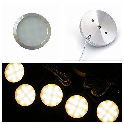 Xkingリンク可能接続Puckライト、dc12V 2.5W LED下キャビネット照明 XK-8