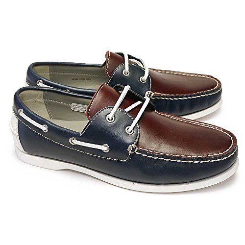 [リーガル] 靴 72PR デッキシューズ レザー メンズ モカシン カジュアルシューズ ネイビーワイン 24.0cm