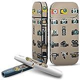 iQOS 2.4 plus 専用スキンシール COMPLETE アイコス 全面セット サイド ボタン スマコレ チャージャー カバー ケース デコ カメラ ビデオ イラスト 010364