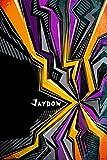 Jaydon: Personalized Journal | Custom Name Journal ? Personalized Name Journal - Journal for Boys - 6 x 9 Sized, 110 Pages - Personalized Journal for Boys - Custom Name Notebook - Purple, Yellow &Black Cover