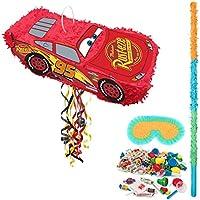 Disney Cars Lightning McQueen 3D Pinata Kit ディズニーカーズライトニングマックイーン3Dピナータキット [並行輸入品]