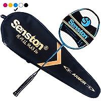 Senston 550 カーボンファイバー バドミントンラケット グラファイト バドミントン?ラケット高品質 バドミントンラケット 収納ケース付き 1つのラケット