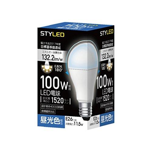 スタイルド LED電球 口金直径26mm 100W形相当 1...