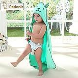 【Pedonir】赤ちゃん ベビー バスローブ ポンチョ マント 子供 フード付き お風呂 プール (グリーン)
