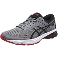 ASICS Men's GT 1000 6 Shoe Stone Grey/Black/Classic Red