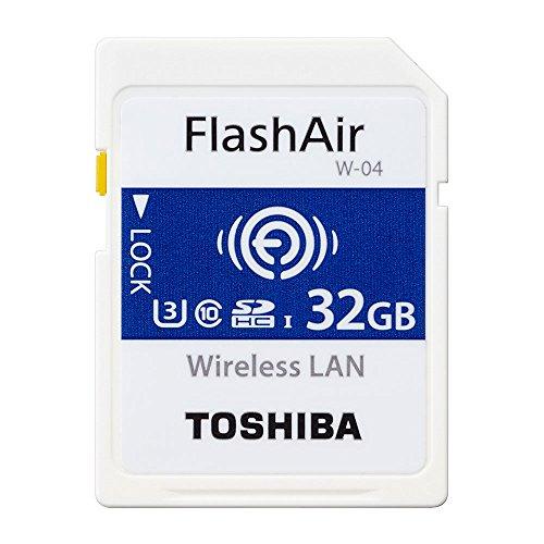 東芝 TOSHIBA W-04 FlashAir Wi-Fi SDXCカード 32GB UHS-1 U3 Class10対応 日本製 [並行輸入品]