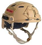 OneTigris PJタイプヘルメット エアソフトヘルメット 米軍風レプリカ装備 多目的 サバゲー・作業用など マウントレール付き かっこいい 軽量 (タン)