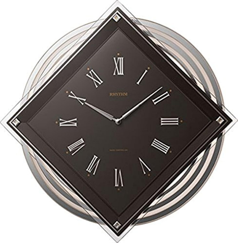 リズム時計工業 RHYTHM 電波壁掛け時計 ビュレッタ 4MX405SR06 飾り振子付 茶色 ブラウン アナログ