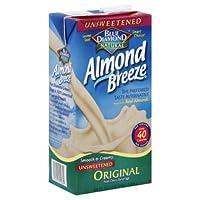 Blue Diamond Almonds ブルーダイヤモンドアーモンドブリーズ無糖、64オンス(パックOF4)