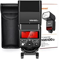Neewer 2.4G無線TTLフラッシュHSS 1/8000s GN36マスタースレーブスピードライト Olympus E-M10II M5II M1 E-PL8 PL7 PL6 PL5 P5 P3 PEN-F、Panasonic DMC-GX85 G7 GF1 LX100 G85に対応 ハードディフューザー付き (NW400-O)