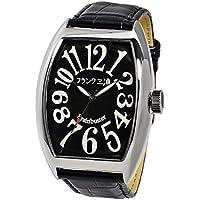 [フランク三浦]FRANKMIURA 腕時計 六号機 マグナム 革ベルト ブラック FM06K-B メンズ