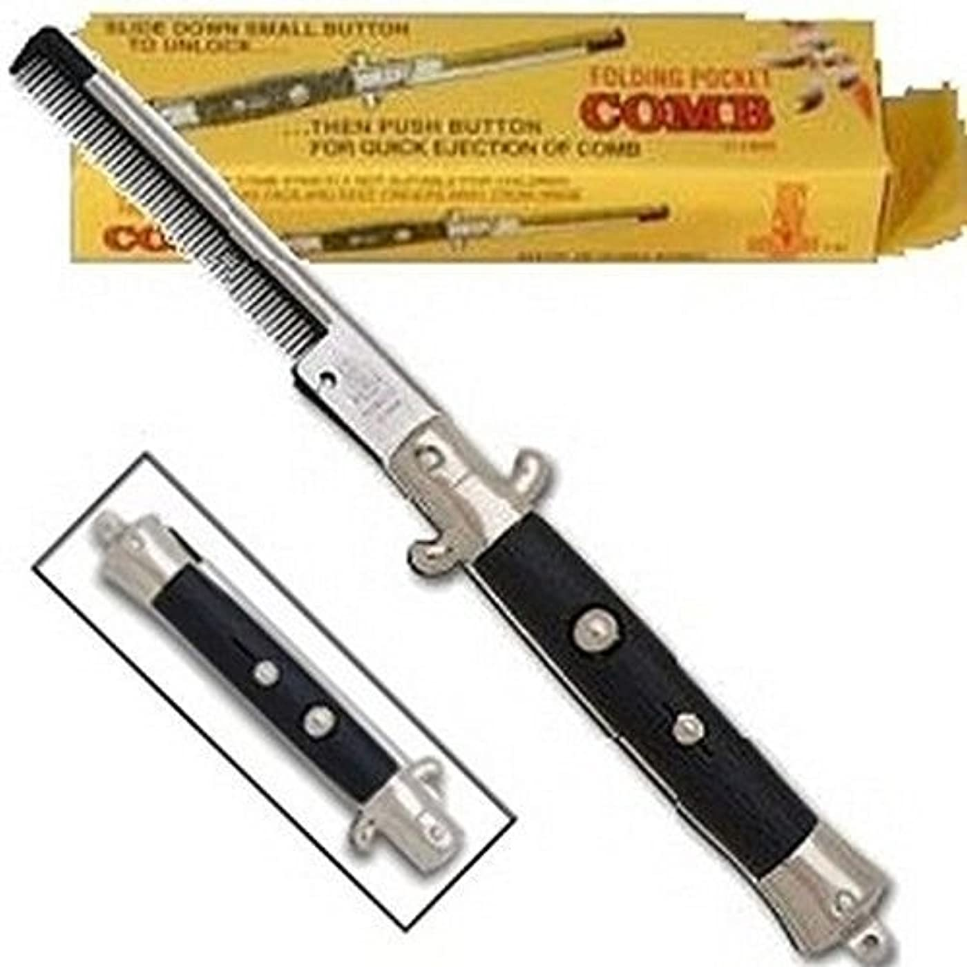 デザイナー悪化させるリングレットNovelty Switch Blade Comb (1 DOZEN PIECES) [並行輸入品]