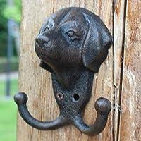 KTYX ヨーロッパのレトロ錬鉄製の壁の墳丘の子犬のフック コートハンガー