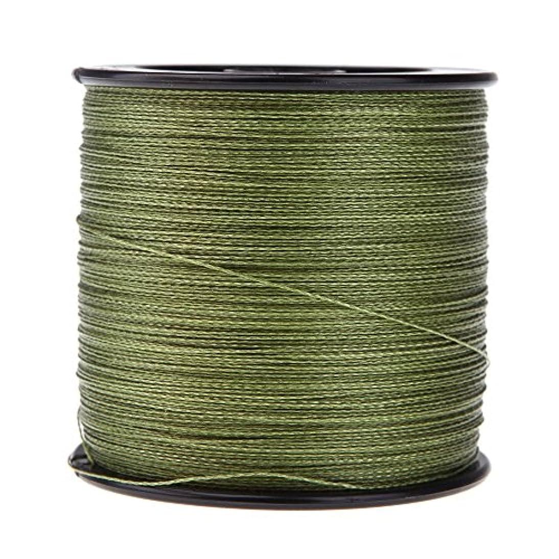 インディカ円形のやさしいACAMPTAR ダイニーマ強い釣り糸PE編み4ガイドライン(緑)