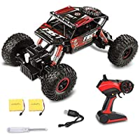 Fancy Buying Toy RC Remote Control Car Off-Road Rock Crawler Power Wheel Monster Racing Truck Vehicle 3 Channels 4 Wheel Drive (Red) 【You&Me】 [並行輸入品]