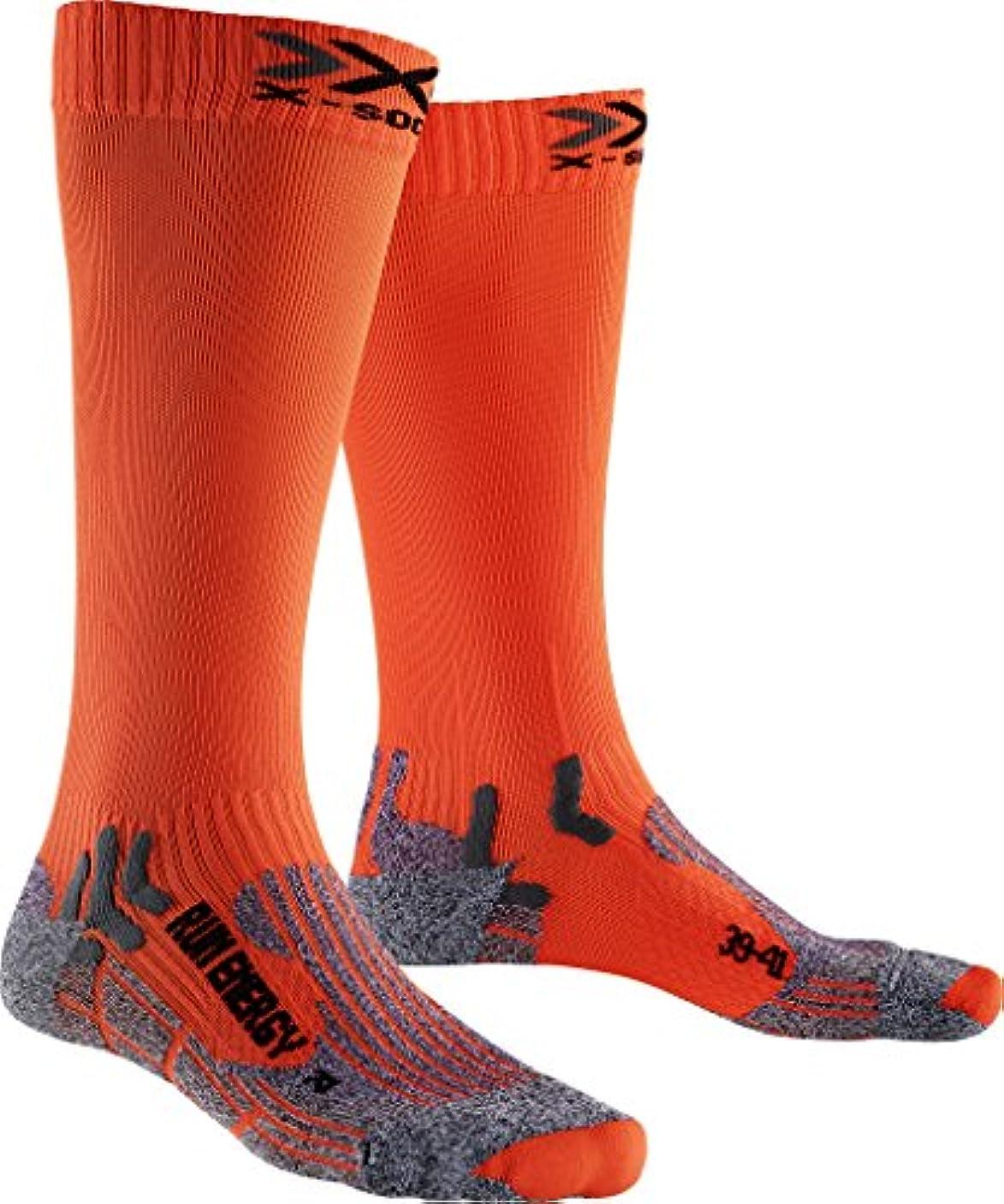 静める選ぶ机メンズとレディース1ペアx-socks実行Energiser圧縮ソックス
