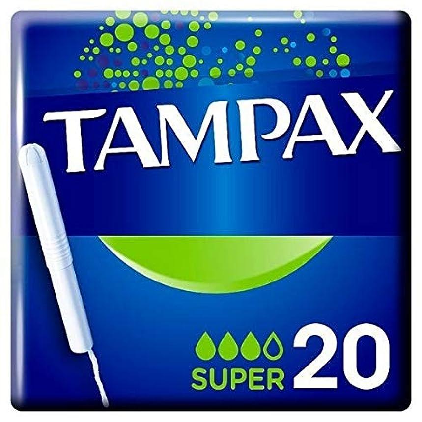 突っ込むシマウマ明確に[Tampax] タンポンスーパーアプリケータータンポンシングル20Pk - Tampax Super Applicator Tampon Single 20PK [並行輸入品]