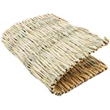 LALANG Handmade Natural Straw Warm Pet Grass Mats Rabbit Cat Dog Foot Pad Home Supplies(M)