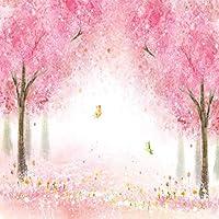 Ljjlm カスタム3D写真の壁紙ピンクのロマンチックな桜の木のリビングルームの寝室の壁の装飾ホーム壁画-420X280Cm