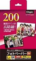 ナカバヤシ 写真用紙 フォトペーパー 印画紙 L判 200枚 超厚手 強光沢 ECSK-L-200G