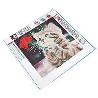 ダイヤモンド塗装、DIYラインストーン刺繍クロスステッチラブリーキャットダイヤモンド塗装アートクラフトホームデコレーション装飾用ホーム刺繍ダイヤモンド塗装(30 * 30CM)