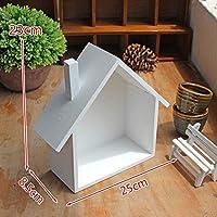 シェルフアース交換 木造住宅棚ディスプレイユニット棚箱収納クラフトボトムフラットデスクトップ (Color : White)