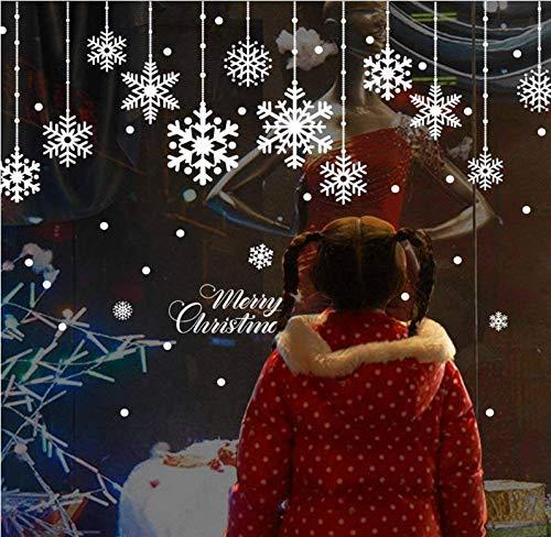 Pichidr ウォールステッカー クリスマスス 雪の結晶 雪の華 雪花 サンタ 雪 シール 壁紙 インテリア 部屋 クリスマス 飾り北欧 木 雑貨 ガラス 窓 DIY オーナメント パーティ 飾りつけ ツリー 北欧風