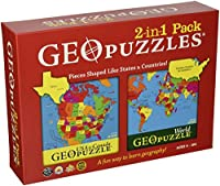 Combination US + World GeoPuzzle by Geotoys