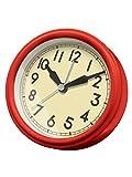 誠時(セイジ) アナログ時計 レトロ クロック ジーノ レッド LW-010RE