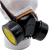 【 ST TS 】塗装 マスク ガスマスク 軽量 サバゲ 特殊 部隊 防毒 有機 コスプレ (ブラック)