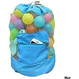 Kingsie メッシュバッグ おもちゃ入れ袋  お砂場バッグ 砂遊び道具入れ おもちゃ 収納袋 (ブルー)