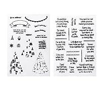 Fityle 透明 シリコーン素材 スタンプ 子供のプレゼント アルバム装飾 カード作成 贈り物 アクセサリー 2枚入り