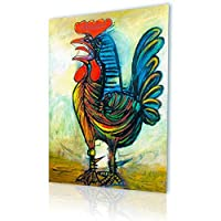 "Alonlineアート – The Rooster Pablo Picassoキャンバスの印刷(100 %コットン、フレームなしunmounted) 16""x23"" - 41x58cm VM-PCS112-CNC0F00-1P1A-16-23"