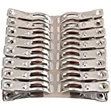 FOMMEN 32 Pcs Heavy Duty Stainless Steel Clothespin Beach Towel Clips Keep Your Towel from Blowing Away