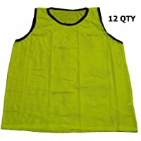 Set of 12 – Big and Tall Workoutz Scrimmage Vests (イエロー)サッカーPinniesトレーニングPracticeジャージ