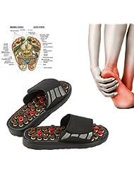 健康サンダル 健康スリッパ マッサージスリッパ 足つぼ ツボ押し ツボを刺激 リフレクソロジー 指圧 調節可能 (40-41)