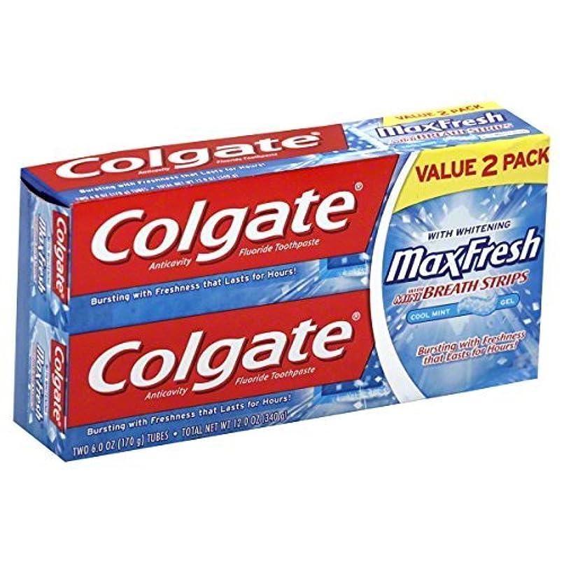 地平線イーウェルディレイColgate MaxFresh Fluoride Toothpaste 6 oz Twin Pack Cool Mint 2 ea [並行輸入品]