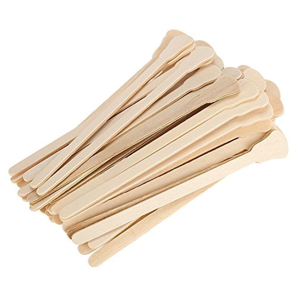 溶接キャンパス封筒50本セット 木製ワックスヘラ舌圧子使い捨てフェイシャルマスク髪削除クリームアプリケーター