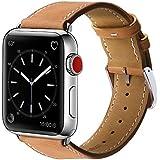 BRG For apple watch バンド,本革 ビジネススタイル アップルウォッチバンド アップルウォッチ1 apple watch series 2 apple watch series 3 レザー製(42mm,ブラウン)