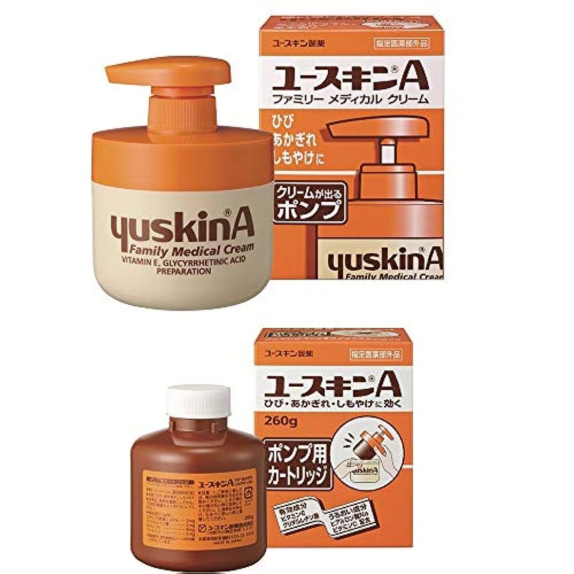 強度実現可能オリエンタル【セット品】ユースキンA ポンプ 260g+A ポンプ用カートリッジ