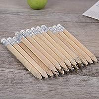 MYGOODLUCK ペン 5ピース木製鉛筆消しゴム学校学校オフィス文具