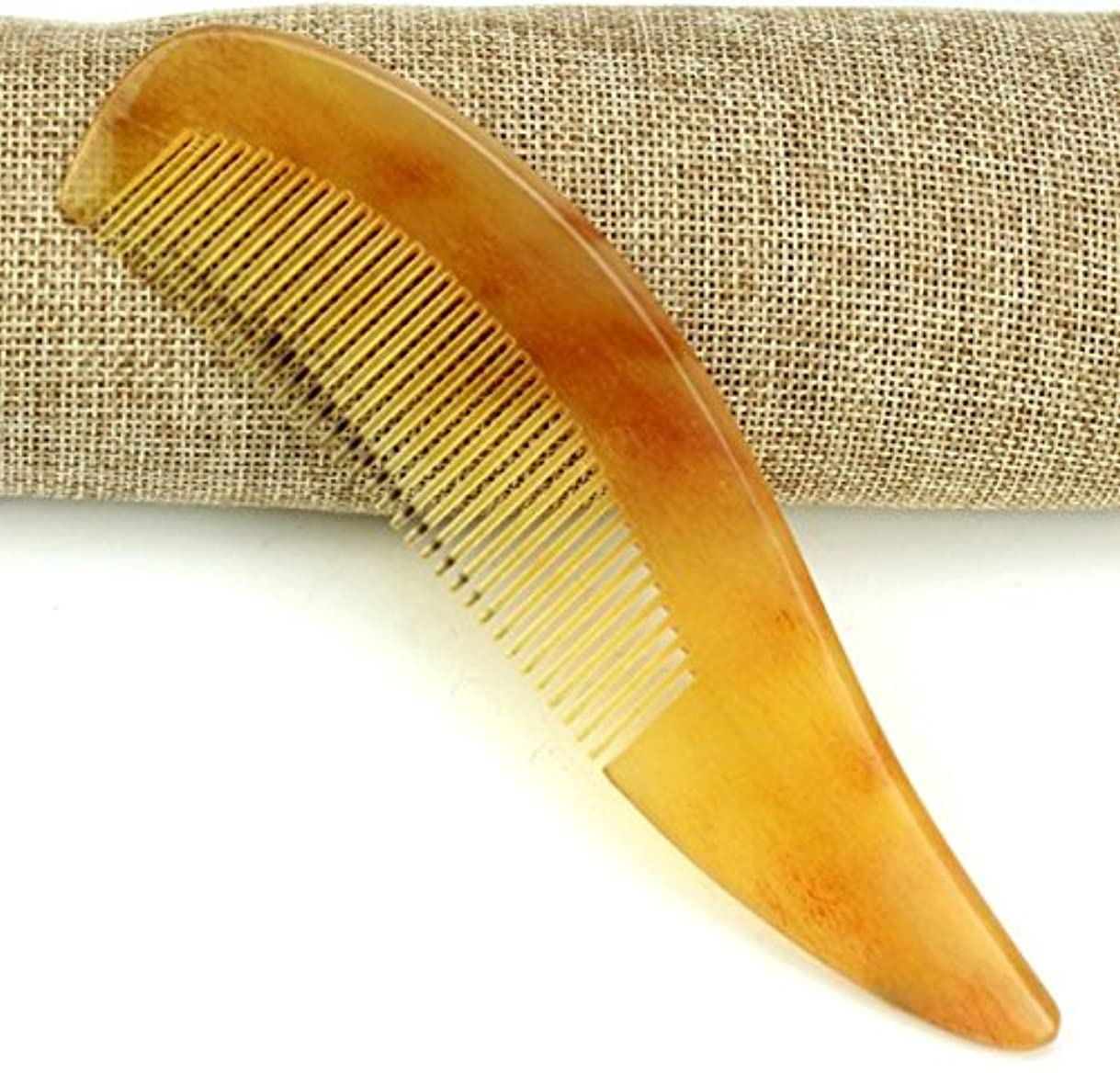 ロッド作り上げる抵抗する櫛型 プロも使う羊角かっさプレート マサージ用 血行改善 高級 天然 静電気防止 美髪 美顔 ボディ リンパマッサージ