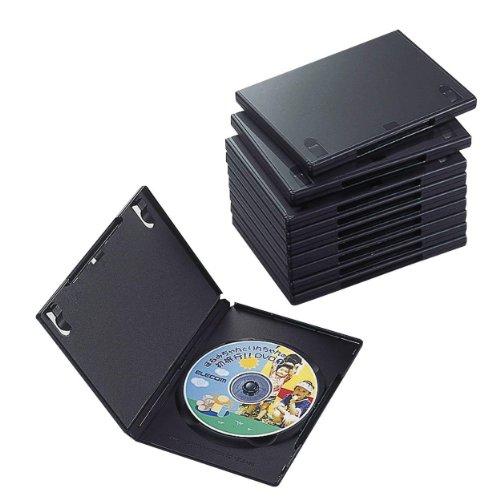 エレコム DVDトールケース 標準サイズ 1枚収納 10個セット CCD-DVD03BK