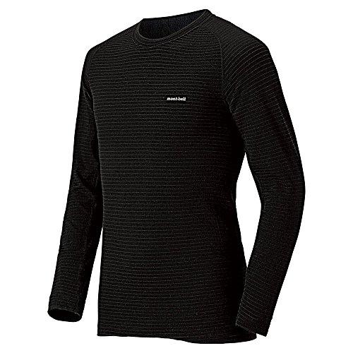 (モンベル)mont-bell スーパーメリノウール EXP.ラウンドネックシャツ Men's 1107581 BK ブラック M