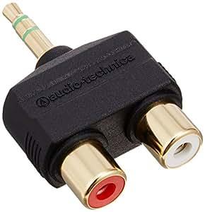 audio-technica GOLD LINK Fine プラグアダプター ピン×2 - ステレオミニ AT5204CS